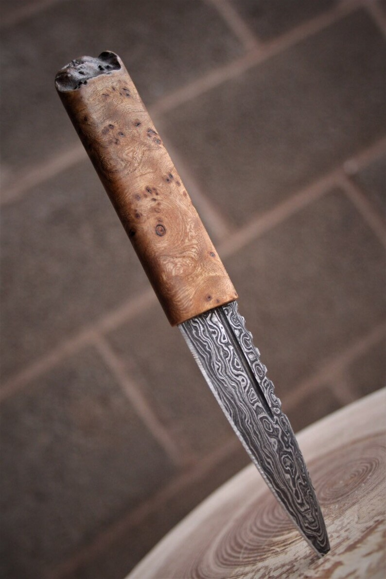 Sgian Dubh Damascus Steel Groomsman Gift Wedding Gift Man image 0