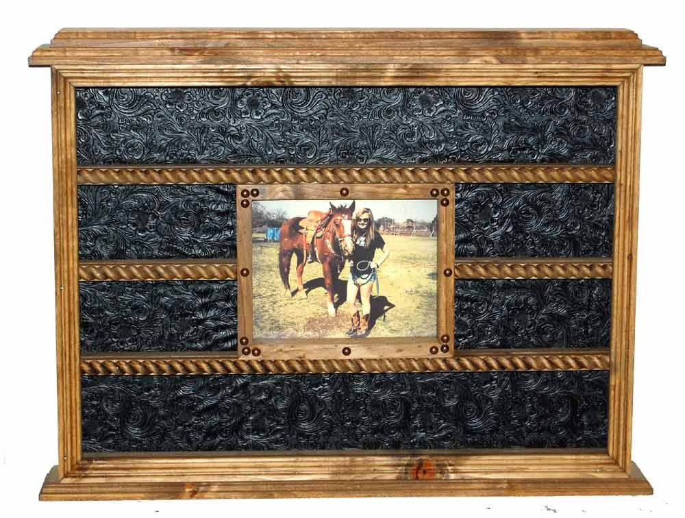 Rustic Western Buckle Display With 8x10 Picture Frame