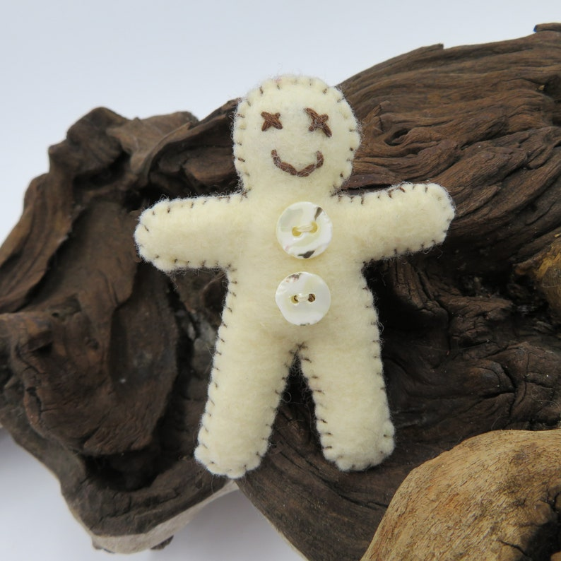 Gingerbread Men Felt BroochCharacter Brooch