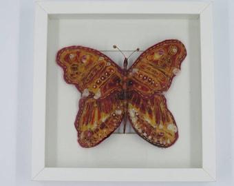 Batik butterfly sculpture/animal model/colourful art