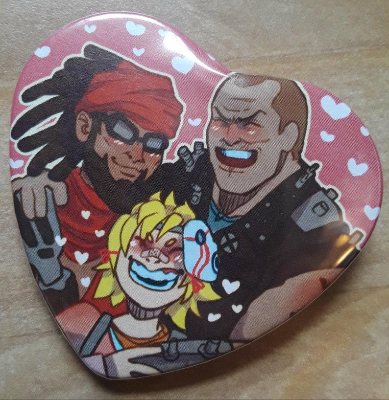 Bandit Borderfam Heart Button!