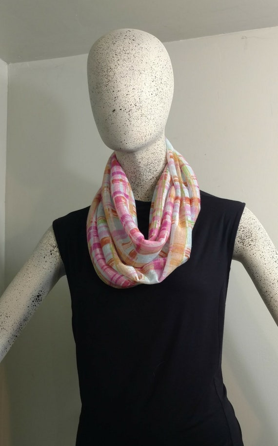 Doux léger dames à carreaux aquarelle foulard infini. Drapé   Etsy 684ff673246