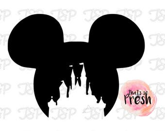 Disney Castle Decal, Disney Decal, Disney Castle Sticker, Disney Castle Vinyl Decal, Disney Vinyl Decals, Mickey Mouse Decal
