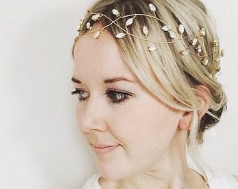 VITE per Capelli Perla Cristallo Nuziale Accessori Da Sposa Diamante Copricapo //// 4 Stile