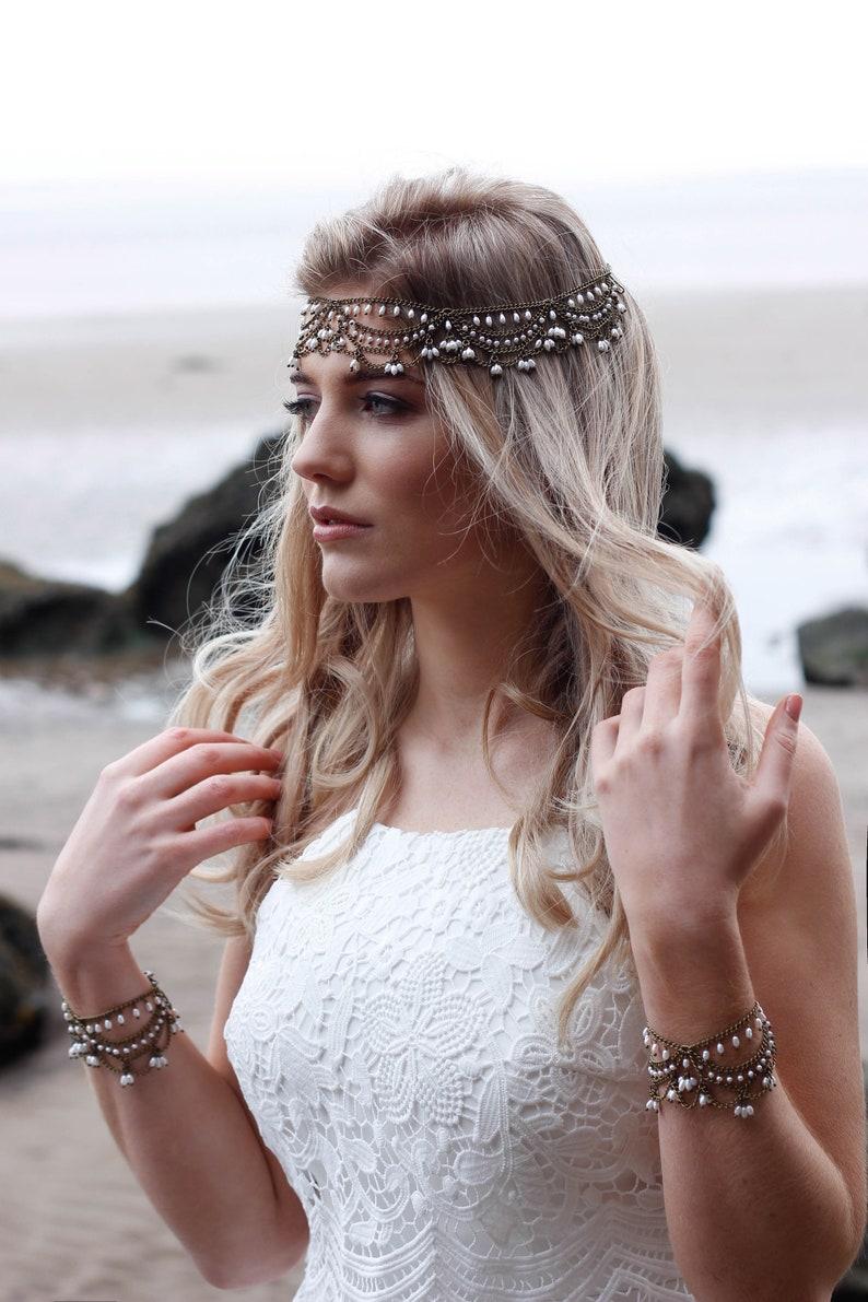 Boho sieradenset voor de bruid