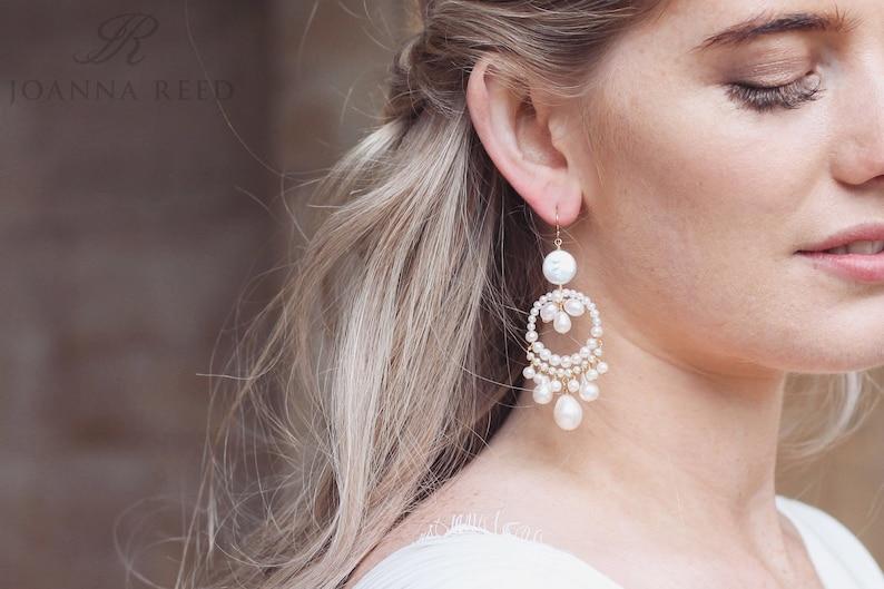Boho oorbellen met parels