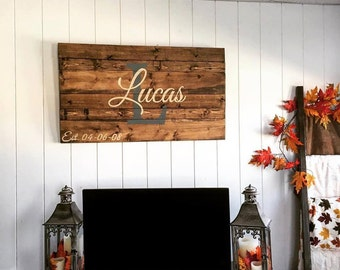 """Large Last Name Sign - 23""""x35"""""""