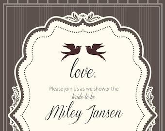 Bridal Shower Invitation - Love Birds