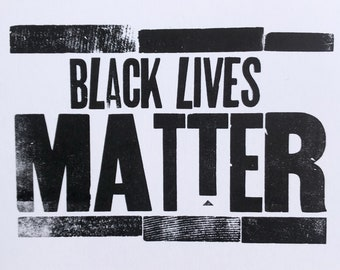 Black Lives Matter Letterpress Print