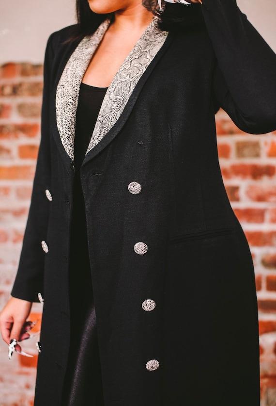 Vintage Black Leopard Jacket