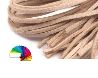 4 Flat Faux Suede Cord 3 mm