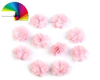 10 Decorative Flower Ø30mm to stitch or glue