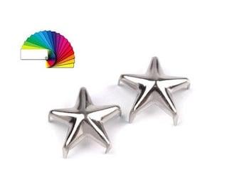 50 Clothing Star Studs Ø10mm