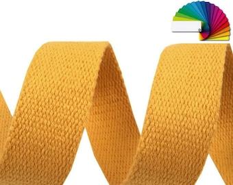 Cotton webbing tape 30mm /  17 colors / Straps cotton shoulder bag handles, belts, tote, wallets
