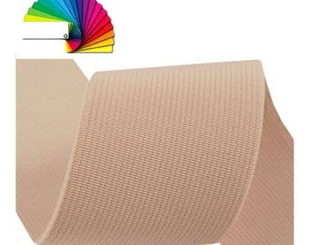 Woven Coloured Elastic Tape width 50mm