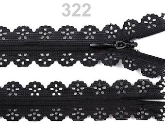Zippered knitting not separable length 85 cm light pink