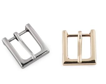 76b218df19d2 2 Boucles de ceinture métal 15mm   or ou argent   Boucles ajustables pour  sangles ou ceintures, fermoir de ceinture, fermeture a cran
