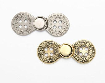 72a4e0be9db 2 Norwegian closures style buttons Brandenburgs   18 or 23mm