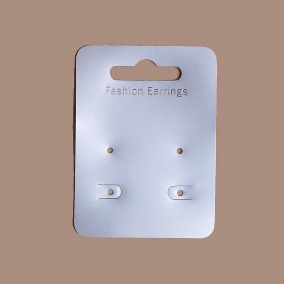 très loué Site officiel vaste sélection 20 support cartonnette double 7 x 5 cm pour présenter boucles d'oreilles /  Emballage bijoux, présentoir bijoux, emballage boucles oreilles