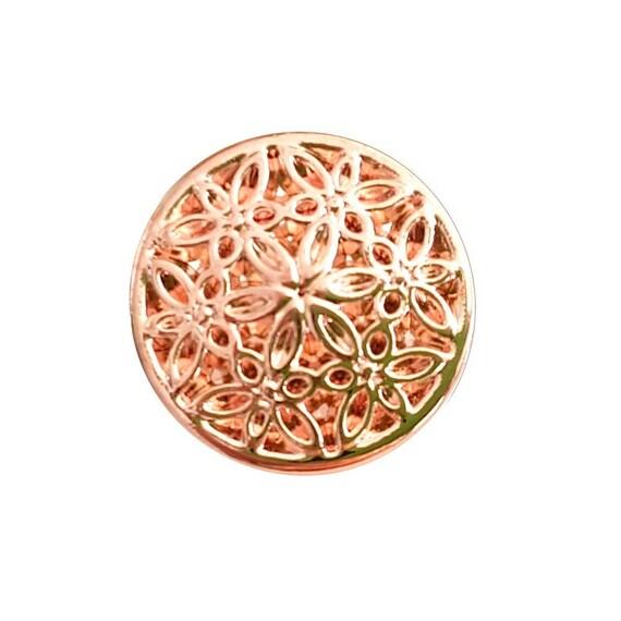 Or Rose Métal Décoratif boutons 15 MM OU 20 MM vendu par bouton