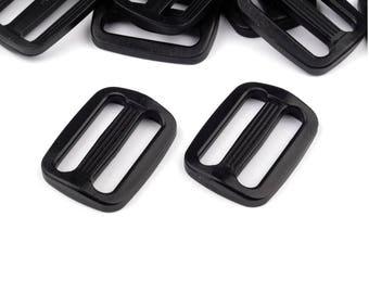 4 Plastic Tri-Glide Slide Adjuster black