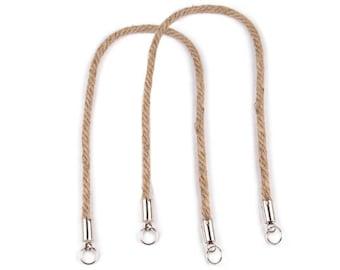 2 Twisted Sisal Bag Handles length