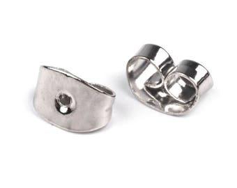20 Stoppers earrings Platinum Silver earrings