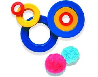 Mini Tassels or pompons maker tool/ Several sizes possible / wool pompoms, DIY pompoms, make pompoms