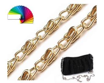 Handbag Chain with Snap Hooks 90 cm