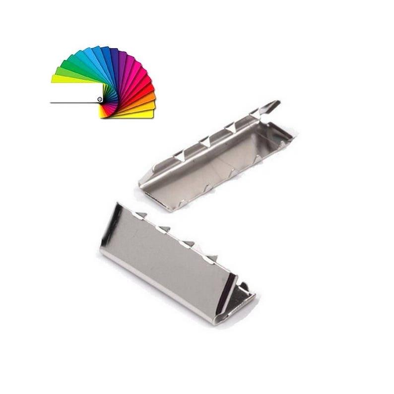 41bcd4c26ba 10 embouts métal fin de sangle   20-25-30-40 et 49 mm