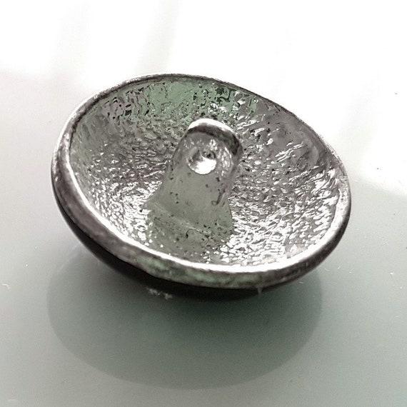 5 x métal effet couleur argent étoile boutons 24mm tige au dos