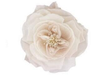Ivory silk and organza flower