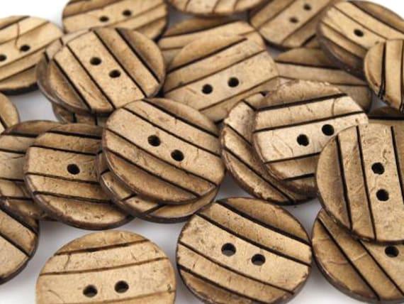 Noix Pour ScrapbookingCollageFantaisie En De Bois Décoratifs 10 23mm Coco Peints Boutons erdBxoC