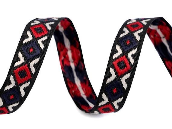 Woven Ribbon Folk Ribbon Indian Ribbon 3yd Woven Ribbon 0.59 Indian Pattern  Ethnic Ribbon Colorful Ribbon Ribbon Bracelets
