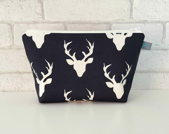Stag Head Cosmetic Bag  * PRE-ORDER *