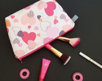 Heart Cosmetic Bag / Wash Bag