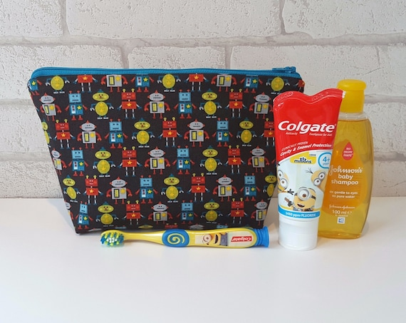 Robot Wash Bag / Kids Toiletry Bag *PRE-ORDER*