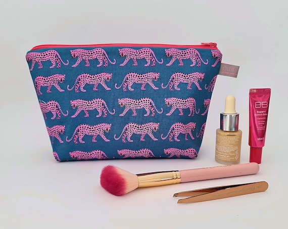 Night Jungle Leopard Cosmetic Bag / Makeup Bag / Wet Bag