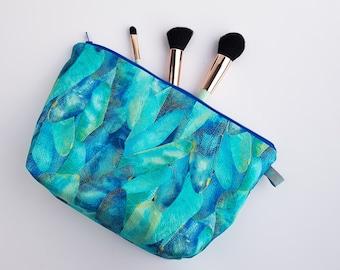 Dragonfly Metallic Leaf Cosmetic Bag / Makeup Bag