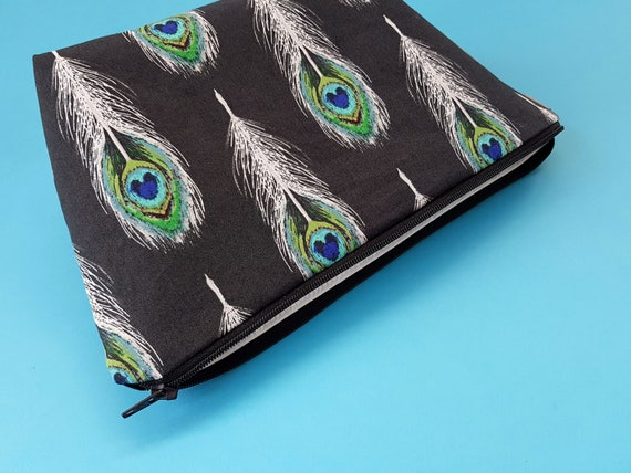 Peacock Feather Cosmetic Bag