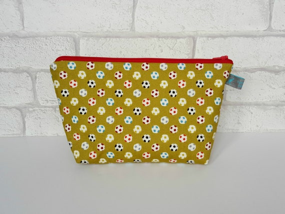 Boys Wash Bag / Wet Bag in football design