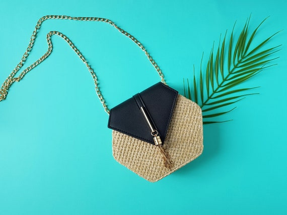 Hexagon Straw Bag