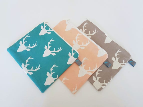 Stag Head Pencil Case, Cosmetic Pouch