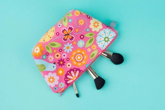 Bright Floral Makeup / Wash Bag