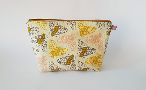 Bee Print Makeup Bag
