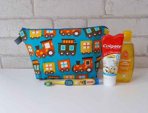 Train Wash Bag for Kids / Wet Bag