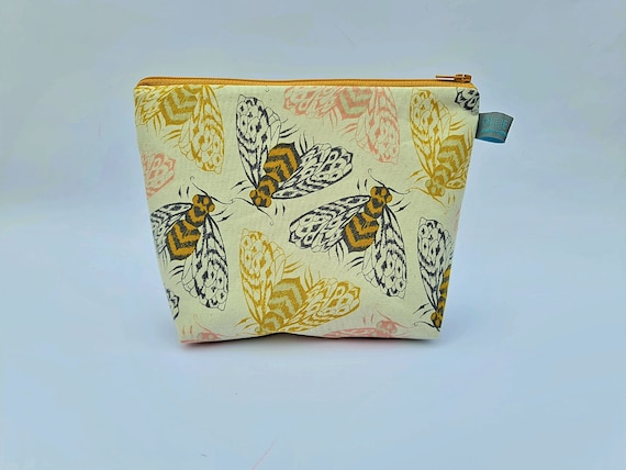 Bee Print Makeup Bag