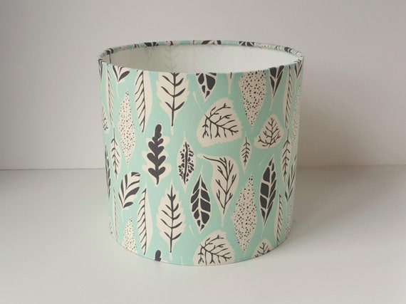 Leaf Print Lampshade - Made to Order