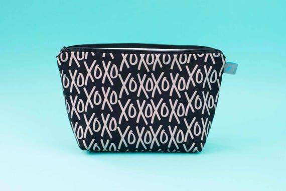 XOXO Rose Gold Cosmetic Bag, 2 sizes