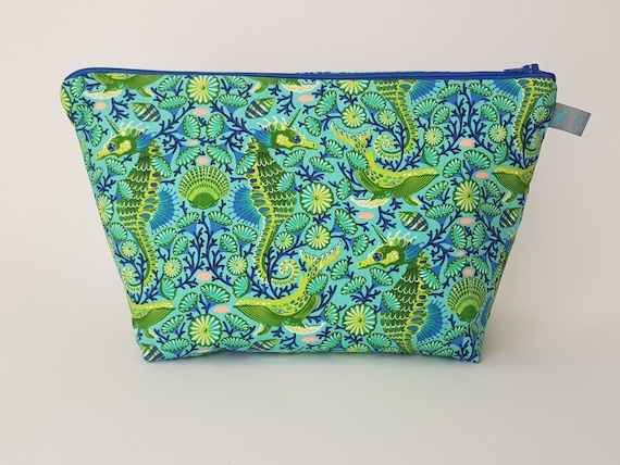 Seahorse and whale Cosmetic Bags